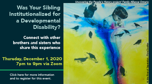 Was Your Sibling Institutionalized for a Developmental Disability?